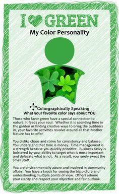 favorite color personality, favorit color, color psychology green, favorite color green, colors