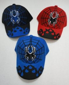 Kids Spider Baseball Hats Adjustable Case Pack 24