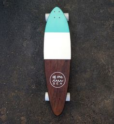 Hand-Crafted Skateboard in Minty Blue | OF ONE SEA