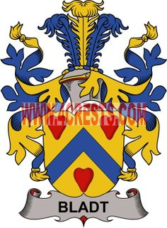 Bladt coat of arms / family crest #denmark #by name #symbol #family #shield #crest #by last name #genealogy #heraldry #shields #danish #tattoo #craft #logo