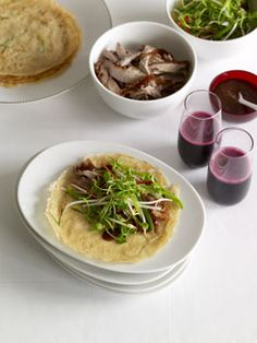 Chinese roast duck with green onion pancakes ----- one of my favourite dishes!