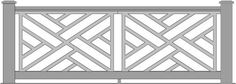 The Chippendale Panel - The Porch CompanyThe Porch Company Balcony Railing Design, Deck Railings, Stair Railing, Front Porch Railings, Front Gates, Fence Design, Door Design, Metal Gates, Wooden Screen