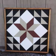 This is a 25 1/4 x 25 1/4 Wood Hand Painted Sign. This is a Barn Quilt Block of…