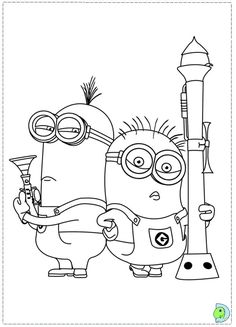 minions coloring page printable coloring pages - Despicable Coloring Pages Dave