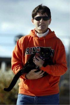 Michael Greenblatt and Roadrunner - the Famous Long Distance Running Cat