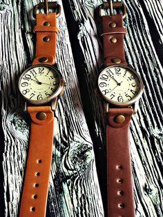 Retro Leather Watch Mens Watch Women