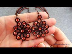 Tığ İle Küpe Yapımı - YouTube Seed Bead Earrings, Beaded Earrings, Crochet Earrings, Diy Hair Accessories, Crochet Accessories, Beard Jewelry, Beaded Jewelry Designs, Earring Tutorial, Soutache Jewelry