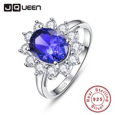 Aliexpress.com : Buy AAA+ 925 Sterling Silver Jewelry Wholesale Classic Blue Ring Stone 4.4ct Natural Tanzanite Rings for Women Size 925 Fine Jewelry from Reliable jewelry school suppliers on JQUEEN 925 Silver Jewelry Store
