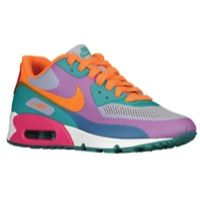 Nike Air Max 90 - Women's - Pure Violet/Bright Citrus/Pink Force I think these are somewhat attrocious and I love them lmao. Free Running Shoes, Nike Running Shoes Women, Nike Air Max For Women, Nike Free Shoes, Nike Women, Shoe Releases, Nike Free Flyknit, Nike Free Runs, Nike Shoes Outlet