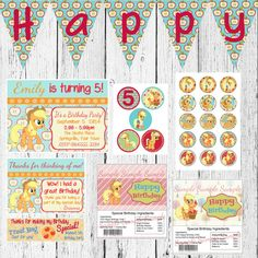 My Little Pony Applejack Birthday Party by AmbersGraphics on Etsy