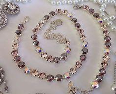 Swanky Nude Genuine Premium Swarovski Crystal Designer Quality Necklace #Handmade #Choker