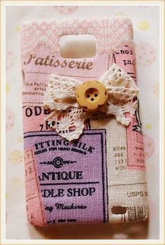 Diy Handmade Cloth Art Phone Case no.71 Classical Design with Pink and Bow for Samsung Galaxy S2 S2 Note Nexus HTC One X S V Other Phones