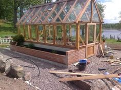Scandinavian greenhouse in becoming...