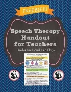 This is a great handout for elementary teachers! This is a one page simple handout that outlines red flags for speech therapy services. Speech Language Therapy, Speech Language Pathology, Speech And Language, Handout, Speech And Hearing, Speech Therapy Activities, Articulation Activities, Parents As Teachers, Therapy Ideas