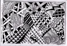 zentangle patterns basic doodle easy drawings draw geometric zum zen pattern stift surrenders tangles mandala ausdrucken vorlagen simple way 2364