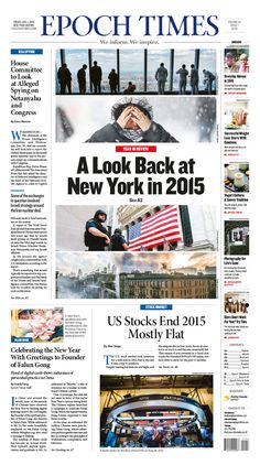 A Look Back at New York in 2015 Epoch Times #newspaper #editorialdesign