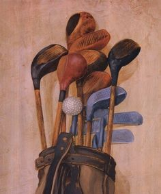Golf Bag With One Ball, Art Print by Jose Gomez Find latest in Golf Push Carts and More @ http://bestgolfpushcarts.net/product-category/golf-push-carts/callaway/