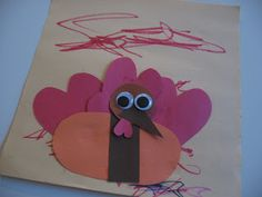Don't skip math for art and don't skip art for math , just mix the two together with this shape turkey craft for kids.