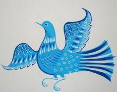 голубь городецкая роспись