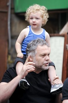 One of my favorite actors, Vincent D'Onfrio and child, Luka