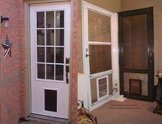 Entry Door with Pet Door - Berkeley Mills - Pet door | Entry doors ...