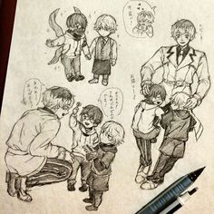 These drawings belong to their creator and the characters are from Tokyo Ghoul. I know the creator must be out there and I want to say that this is one of the best ideas ever and your drawings are very cool! ^^