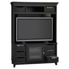 Galaxy Black Entertainment Center TV Compartment: Home