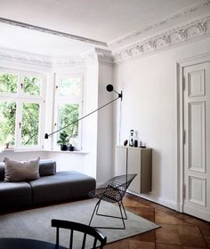 my scandinavian home: Grey and Greige in a Magnificent Berlin Home