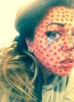 Lichtenstein Halloween makeup (kamcalin on instagram)