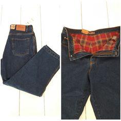 New Moose Creek Jeans Size 36 x 30 Denim Pants Flannel Lining Original Classics #MooseCreek #ClassicStraightLeg