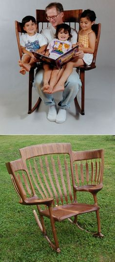 Story Time Rocking Chair | 3-seat rocking chair | diy inspiration | rocking chair diy