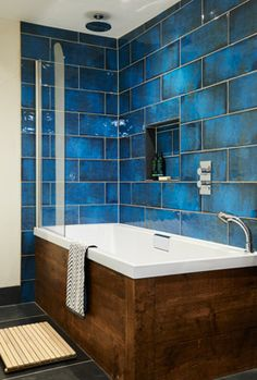 Bathroom Decor blue Bathroom Paint Colors That Always Look Fresh and Clean White Bathroom, Bathroom Wall, Modern Bathroom, Small Bathroom, Bathroom Ideas, Bathroom Cabinets, Colorful Bathroom, Blue Bathroom Tiles, Bathroom Vanities