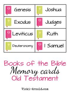 Books of the Bible Memory Cards: Old Testament {free printable}
