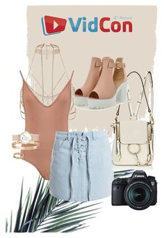 VIDCON OUTFIT by olivia-lauren-hunter on Polyvore featuring polyvore, fashion, style, Sans Souci, Boohoo, Chloé, River Island, CLUSE, Cartier, Eos and clothing