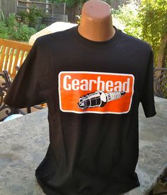 d4995dcc Gearhead® Spark Plug Mens T Shirt Hot Rods Kustom Cars Rockabilly Greaser  Auto #Gearhead