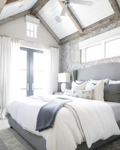 """396 Likes, 3 Comments - Patterson Custom Homes (@pattersoncustomhomes) on Instagram: """"A slow wake up is inevitable in this grey-toned boho bedroom! #pattersoncustomhomes #thenewstandard…"""""""