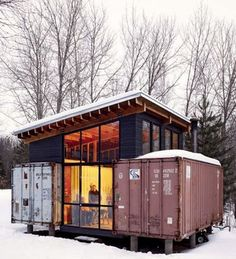 shipping containers combined to create a house!