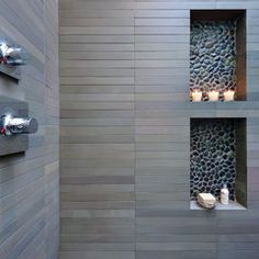 modern bathroom by Michael Tauber Architecture Remember to add wall niches for shower paraphernalia.