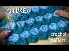 """РОСКОШЬ КРЮЧКОМ? ЛЕГКО И ПРОСТО! 💎💎💎 / """"ALLURE"""" CROCHET PATTERN - YouTube Crochet Stitches, Crochet Patterns, Crochet Hats, Crochet Videos, Projects To Try, Knitting, Youtube, Crochet Pouch, Cardboard Houses"""