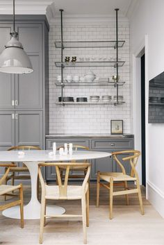 Your dining room or kitchen table is bound to get a lot of use through the years and serve as the main surface for a variety of activities, from eating and doing homework to wrapping holiday gifts and the like. Now that you know how big of a table your new space can accommodate, switch out your previous piece for something with a little more staying power.