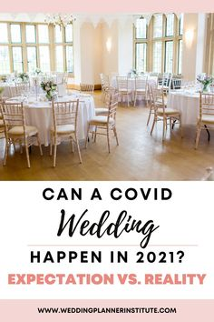 """For any wedding planner or couple preparing to say """"I do,"""" planning a COVID wedding was all new territory. More than a year after COVID appeared on the planet, planners and couples are still learning how to adjust and plan a wedding during COVID. #covidwedding #weddingplanning"""