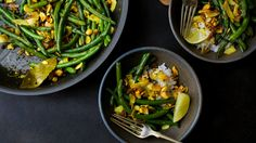 This fragrant, deeply flavored green bean dish works as an intense side dish for a simple meal or as a meatless main course in its own right Take care when adding the mustard seeds to the skillet — they can pop and jump out of the pan as they heat, so stand back If you can't find large flakes of dried coconut (also sometimes called chips), you can substitute shredded coconut, as long as it's unsweetened