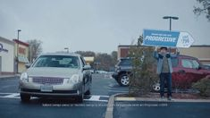 A man is interrupted during his shift as a Progressive sign holder by his father, who drives by hoping to chat. The employee tells his father that they'll have to wait until his next break to talk, prompting his father to drive on and leave him to his work. Tv Commercials, Progressive Auto, Search Ads, Honda Element, State Farm, Tv Ads, Resume Format, You Must, At Least