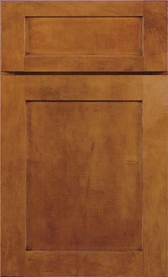 Kemper - Maple in Havana finish (5 square door)  For kitchen cabinets.