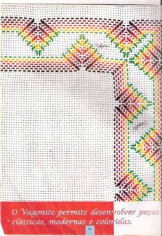 Álbum sem título - Rosilda Carneiro - Picasa Web Albümleri Ribbon Embroidery Tutorial, Embroidery Stitches, Embroidery Patterns, Hand Embroidery, Cross Stitches, Cross Stitch Designs, Cross Stitch Patterns, Loom Patterns, Swedish Weaving Patterns
