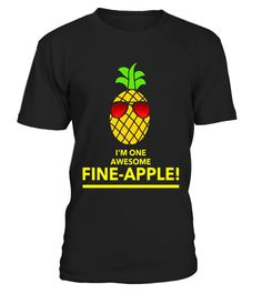"""# Fun I'm One Awesome Fine-apple Pineapple Fan T-shirt . Special Offer, not available in shops Comes in a variety of styles and colours Buy yours now before it is too late! Secured payment via Visa / Mastercard / Amex / PayPal How to place an order Choose the model from the drop-down menu Click on """"Buy it now"""" Choose the size and the quantity Add your delivery address and bank details And that's it! Tags: For a more relaxed fit, order a size larger. This Premium Hawaii Pineapple graphic…"""