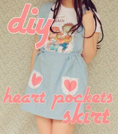 DIY Heart Pockets Skirt (from scratch) - FREE Sewing Pattern and Tutorial by The Pineneedle Collective