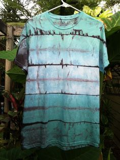 7fcec45035dbfa Mens medium Multicolor Shibori Landscape tie Dye T-shirt
