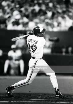 Joe Carter #29 of the Toronto Blue Jays swings at a pitch during an MLB game circa 1992 at the Toronto Skydome in Toronto, Ontario, Canada.