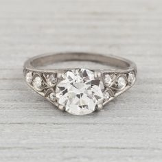 1.81 Carat Edwardian Vintage Engagement Ring | Erstwhile Jewelry Co.